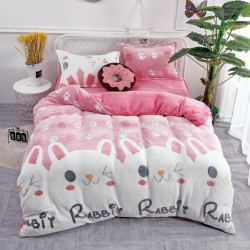 Lenjerie de pat 1 persoana Cocolino - Pinky Rabbit