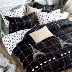 Lenjerie de pat 2 persoane Bumbac Satinat Paris