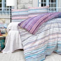 Lenjerie de pat 2 persoane 100% Bumbac Liliac
