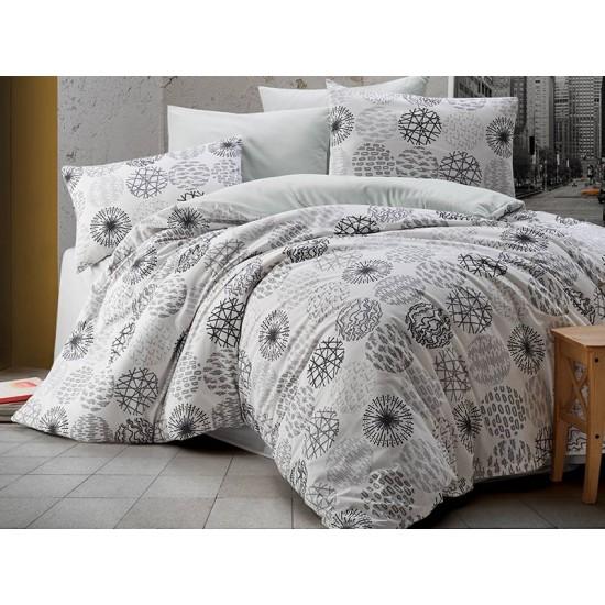 Lenjerie de pat 2 persoane 100% Cercle White