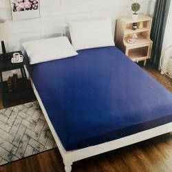Husa de pat cu elastic  Damasc Albastru