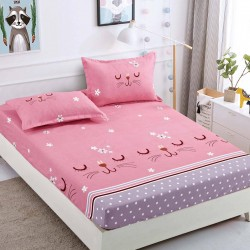 Cearsaf de pat  cu elastic + 2 fete de perna Cocolino -  Bunny