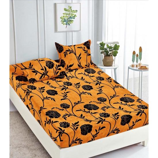 Cearsaf de pat  cu elastic + 2 fete de perna Cocolino Elegant Flower