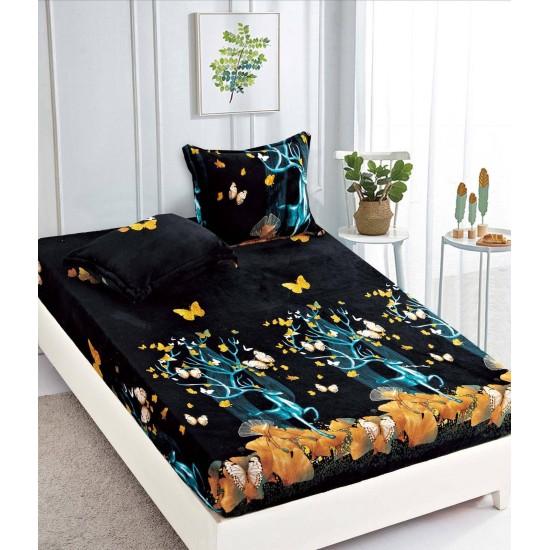Cearsaf de pat  cu elastic + 2 fete de perna   Cocolino - Forest