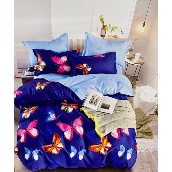 Lenjerie de pat 2 persoane 6 piese Finet - Bleu