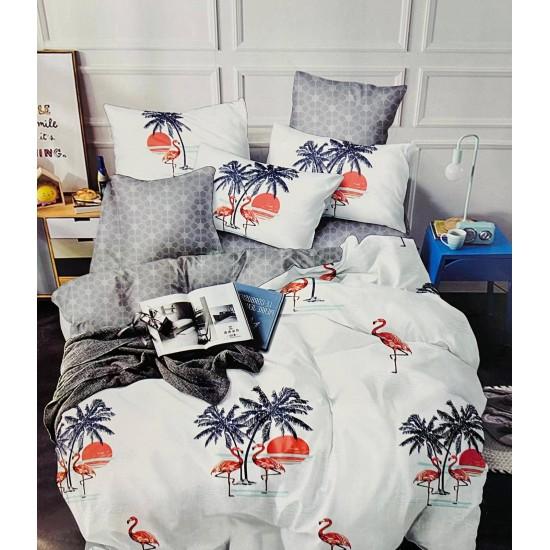 Lenjerie de pat 2 persoane 6 piese Finet - Flamingo
