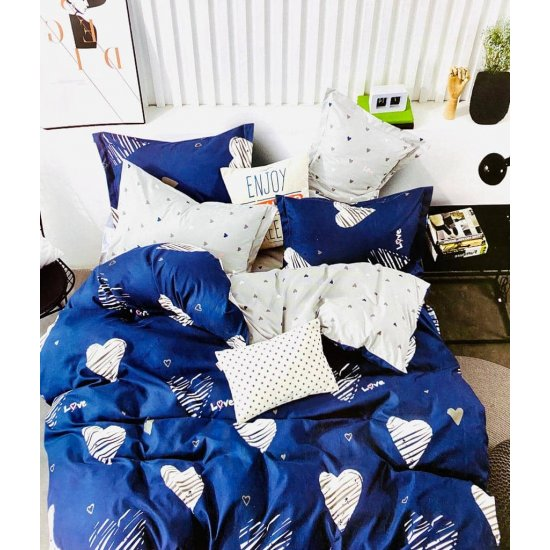 Lenjerie de pat 2 persoane 6 piese Finet Blue Baby