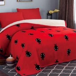 Patura cu blana 200x230cm Ladybug