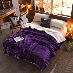 Patura cu blana 200x230cm Violet