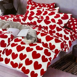 Lenjerie 2 persoane 6 piese Finet-  Red Love