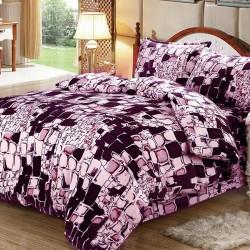 Lenjerie de pat 2 persoane Cocolino Purple Wall