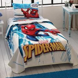 Lenjerie de pat 1 persoana 100% Bumbac Copii SpiderMan