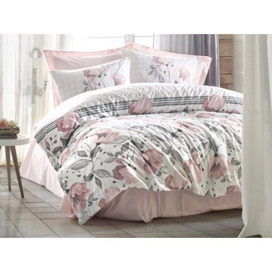 Lenjerie de pat 2 persoane 100% Bumbac Soft Pink