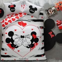 Lenjerie de Pat 2 Persoana pentru Copii Bumbac 100% Mickey Mouse Love T0634