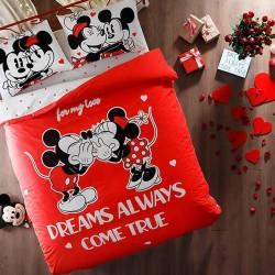Lenjerie de Pat 2 Persoana pentru Copii Bumbac 100% Mickey Mouse Love T0635