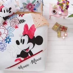 Lenjerie de Pat 2 Persoana pentru Copii Bumbac 100% Minnie Mouse T0636