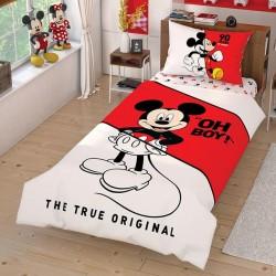 Lenjerie de Pat cu Elastic pentru Copii Bumbac 100% Disney Mickey Mouse T0597