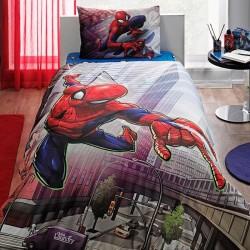 Lenjerie de Pat cu Elastic pentru Copii Spider-Man Bumbac 100% T0581