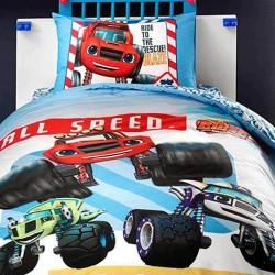 Lenjerie de Pat cu Elastic pentru Copii Bumbac 100% All Speed T0582