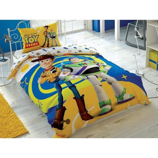 Lenjerie de Pat cu Elastic pentru Copii Toy Story Bumbac 100% T0586