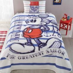Lenjerie de Pat cu Elastic si Cuvertura pentru Copii Mickey Mouse Bumbac 100% T0570