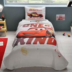 Lenjerie de Pat cu Elastic si Cuvertura pentru Copii Cars Lightning McQueen Bumbac 100% T0578