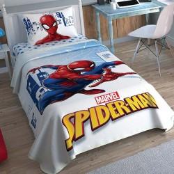 Lenjerie de Pat cu Elastic si Cuvertura pentru Copii Spider-Man Bumbac 100% T0579