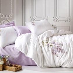 Lenjerie de pat 2 persoane Bumbac Satinat 3D Lila Flower