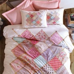 Lenjerie de pat 2 persoane 100% Bumbac Cute Pink